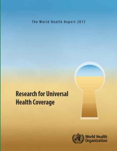 World Health Report 2013_Mariam_Malik