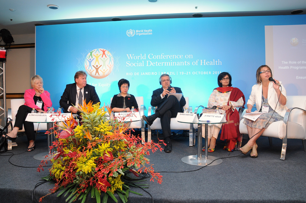 Sania Nishtar at a ministerial panel on health at the Sustainable Development Summit in Rio, October 2011.jpg