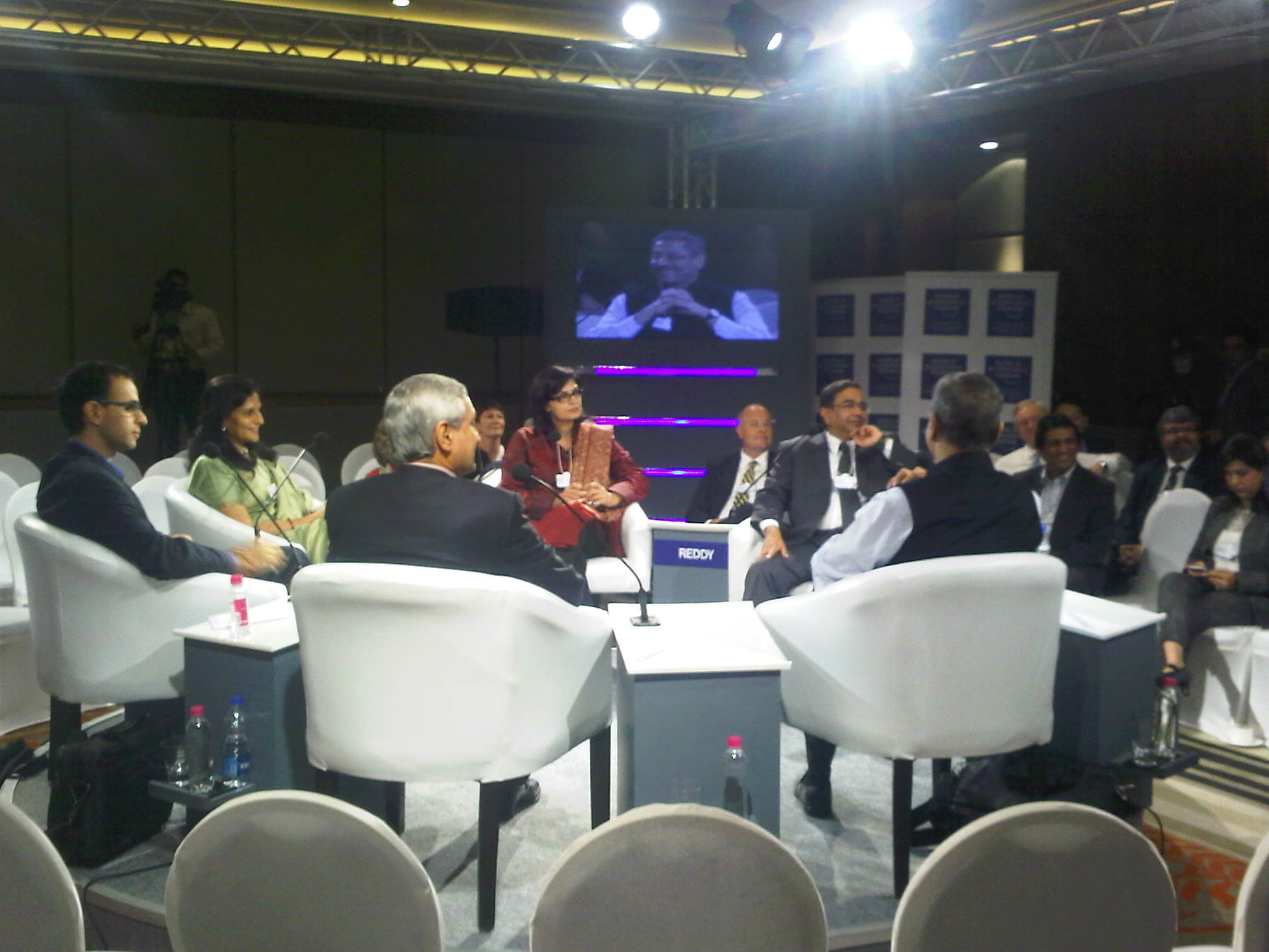 Sania Nishtar at the World Economic Forum in India