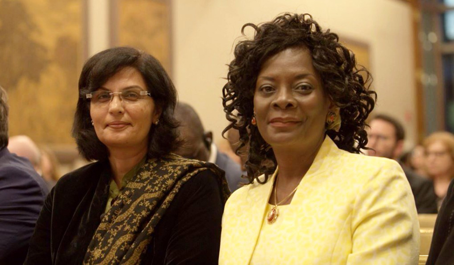 5...Sania Nishtar and the First Lady of Bukino Faso, Keynote speakers at the event organized by Access Accelerated in New York at the UNGA 73